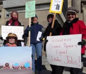 Boise Broadband Megaload Protest at Capitol