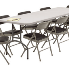 Table And Chair Rentals Folding Mattress Great Party Productons Rental