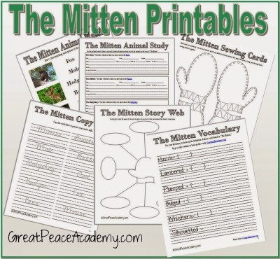Free Printable Worksheets for The Mitten