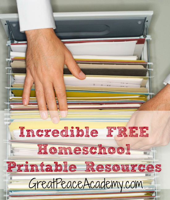 Incredible Printable Resources for Homeschoolers