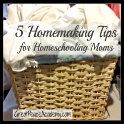 5 Tips for Homemaking