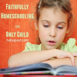 Homeschool only child