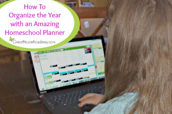 How to Organize the Year with an Amazing Homeschool Planner for the Whole Family | Great Peace Academy