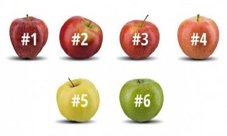 Выберите яблоко, которое вы бы съели