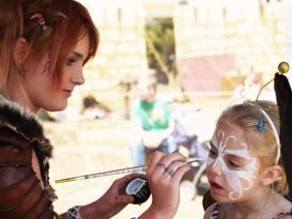 Face Painter At the Great Plains Renaissance Festival