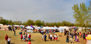 A very, very small slice of the vendor spaces at the Great Plains Renaissance Festival