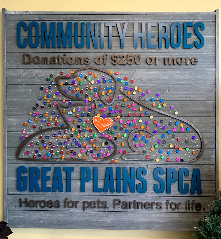 Community Heroes Wall - For donors who give a single donation of $250 or more