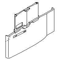 LaserJet 40X0 Tray 1 Door Assembly