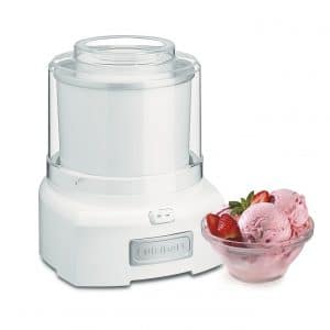 Cuisinart ICE-21 Ice Cream Maker 1.5 Quart Frozen Yogurt (White)