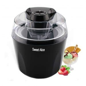 Sweet Alice 1.5 Quart Ice Cream Maker Machine BPA-free, Black