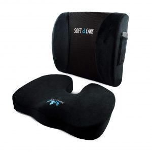 SOFTaCARE Lumbar Support Pillow and Seat Cushion (Set of 2)