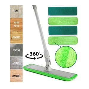 Turbo Microfiber Mop Floor Cleaning System
