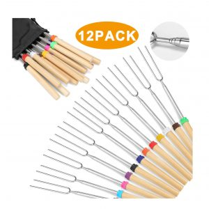 Hadoife Marshmallow 12 Smores Skewers Roasting Sticks