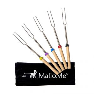 MalloME Marshmallow Roasting Set of 5 Smores Sticks