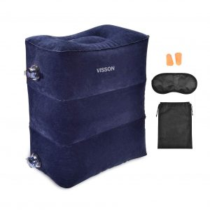 VISSON Airplane Foot Rest Inflatable Travel Pillow