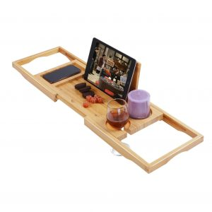 Utoplike Bamboo Bathtub Caddy Tray
