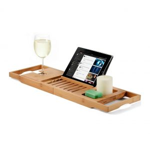 Bambusi Premium Bamboo Bathtub Tray Caddy