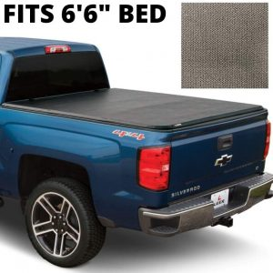 LEER Latitude SC 6.6 FT Truck Bed Tonneau Cover for 2019 Chevy Silverado (Matte Black)