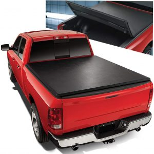 Auto Dynasty Tri-Fold Adjustable Tonneau Cover for Toyota Pickup