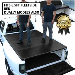 DNA Motoring Tri-Fold Pickup Truck Bed TTC-HARD-005 Tonneau Cover