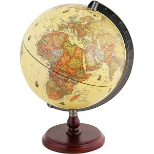 Exerz Antique Globe with a Wooden Base