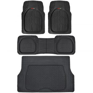 Motor Trend 4pc Black Car Floor Mats