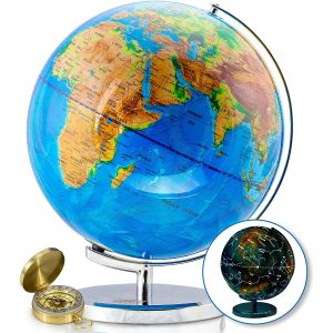 Get Life Basics World Globe w/ Illuminated Constellations