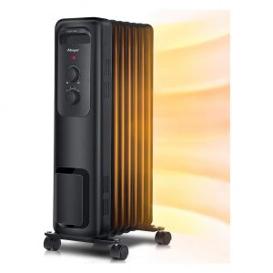 Aikoper Space Heater 1500W Oil Filled Radiator Heater