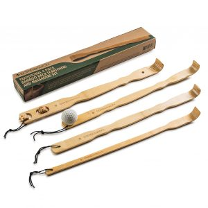 BAMBOOWORK 4 Pieces Traditional Back Scratcher