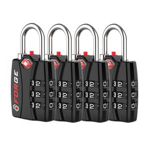Forge 4 Pack TSA Luggage Combination Lock