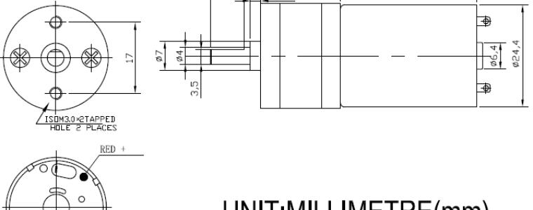 ChiHai Motor CHR-GM25-370 Permanent Magnet Micro DC Gear