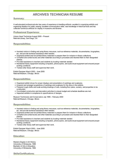 examples of great resume examples