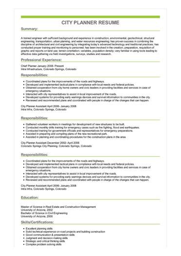transportation job resume examples