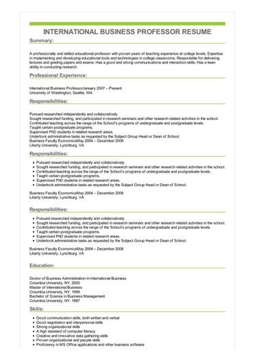 casual resume sample
