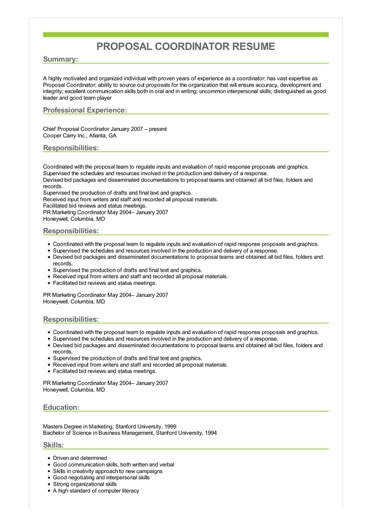 resume professional objective examples