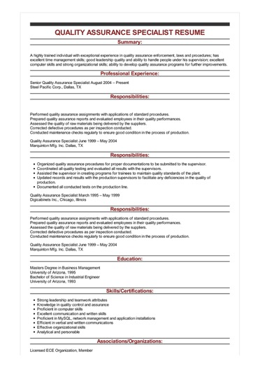 strong summary for resume