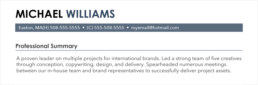 use resume in a short sentence