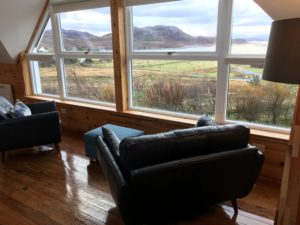 View out of Windyhill Cottage Lounge window
