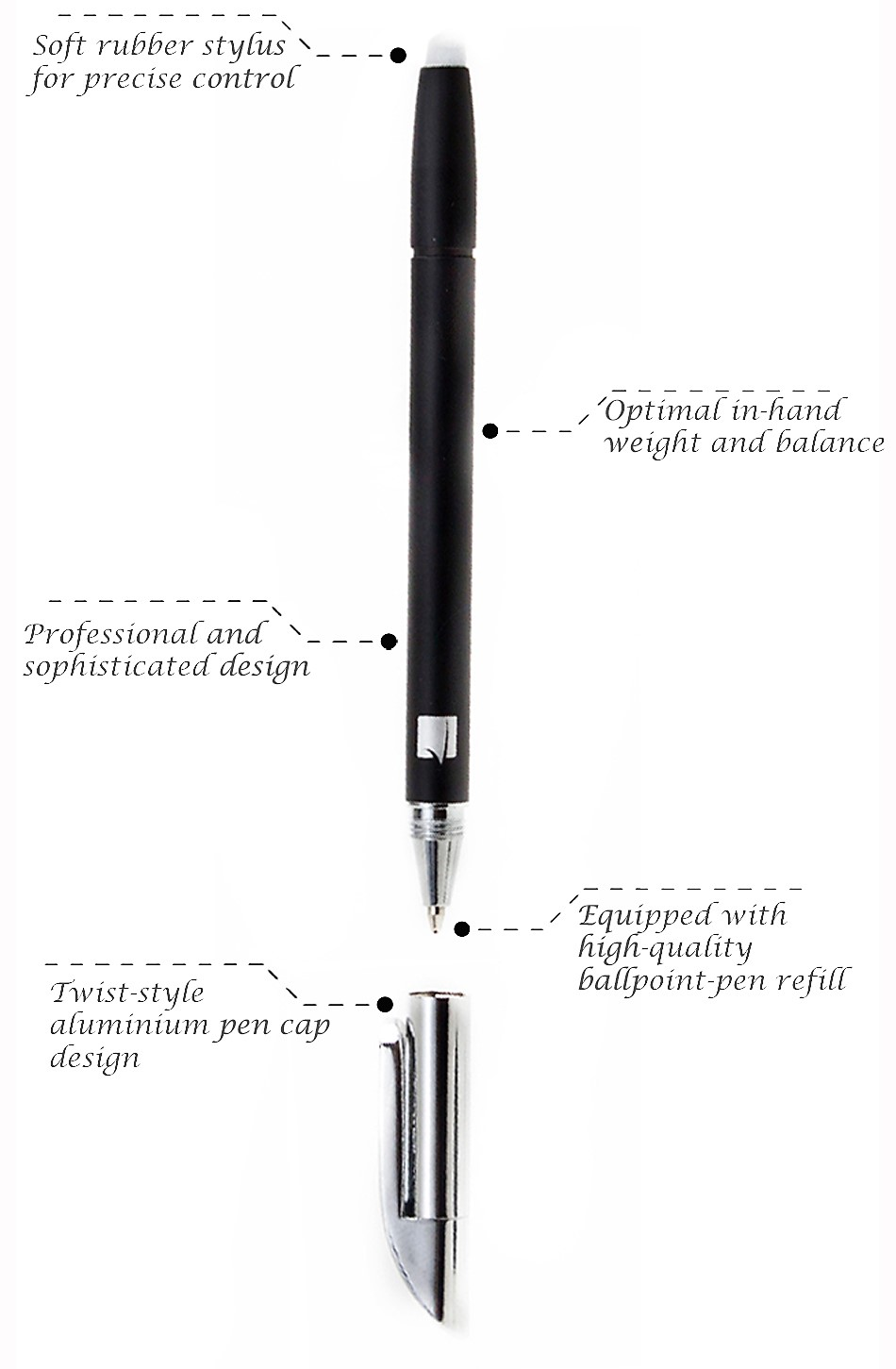 GreatShield EX Series 2 in 1 Ballpoint Pen + Capacitive