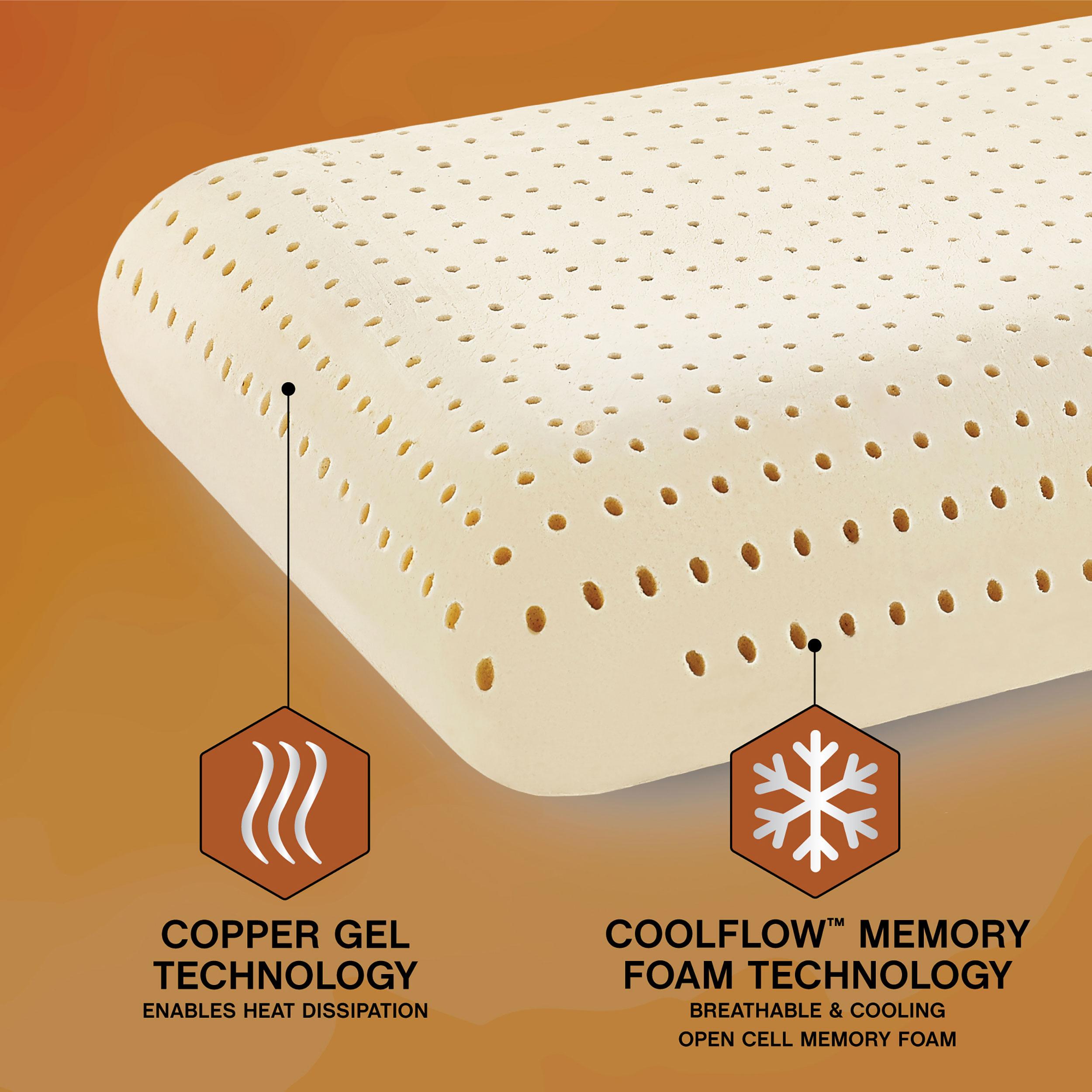Great Sleep Copper Gel CoolFlow Memory Foam Pillow