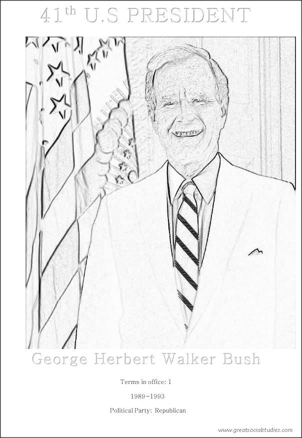 41st US president, George Herbert Walker Bush, teenagers