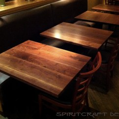 Custom Restaurant Tables And Chairs Henredon Dining Solid Hardwood Table Tops Live Edge Slabs
