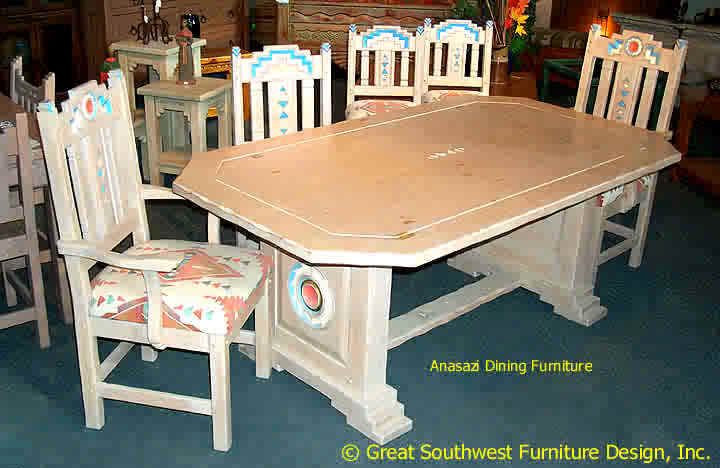 southwest dining chairs swivel chair not staying up furniture sets china cabinets tables anasazi