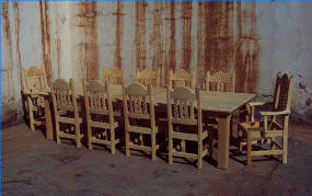 southwest dining chairs inexpensive plastic adirondack mission, style set, tables, chairs, china cabinets