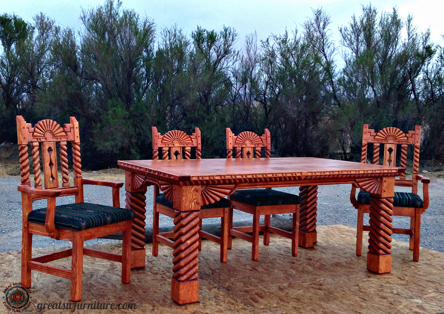 southwest dining chairs cream puff chair furniture sets china cabinets tables anasazi