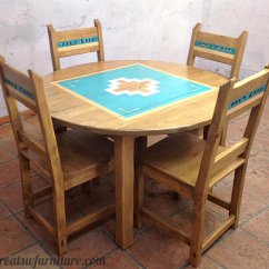 Southwest Dining Chairs Tufted Rocking Chair Furniture Sets China Cabinets Tables Bear Creek
