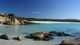 Long beach at Tasmania