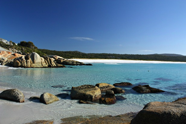 Long beach at Tasmania