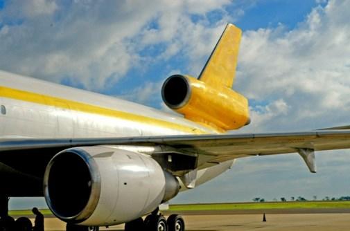 Yellow plane fuselage