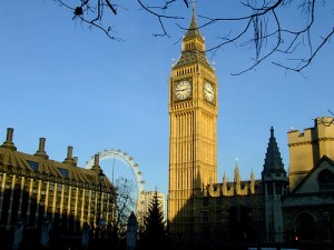 Big Ben, Houses of Parliament and the London Wheel